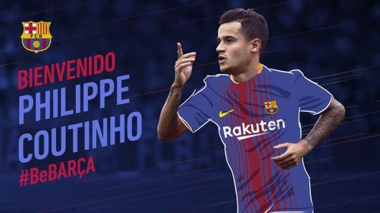 Barcelona FC anunció el fichaje del brasileño Philippe Coutinho (FC Barcelona)