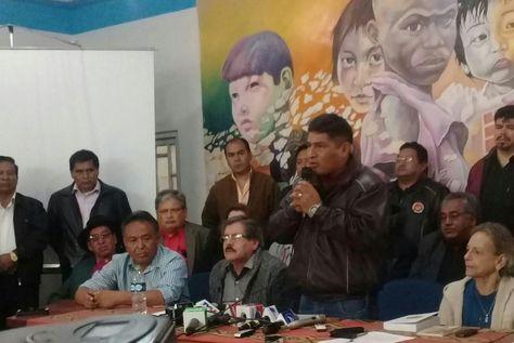 Dirigentes y autoridades anuncian en la UMSA anuncian la conformación del CONADE.
