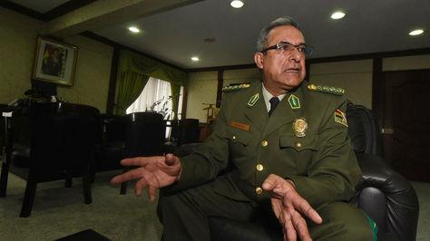 El Comandante General de la Policía Boliviana, Faustino Mendoza. Foto: La Razón