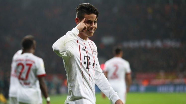 James Rodríguez es cada vez más protagonista en el Bayern Múnich (Getty Images)