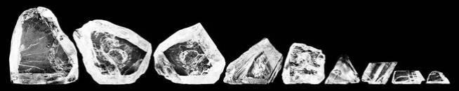 Las nueve piedras resultantes. (Wikimedia Commons)