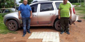 Caen dos personas con 37 kilos de droga en Mutún
