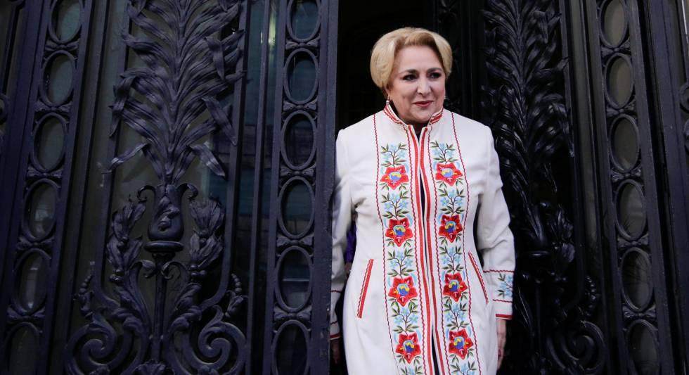 La primera ministra rumana, Viorica Dancila, este martes en Bucarest.