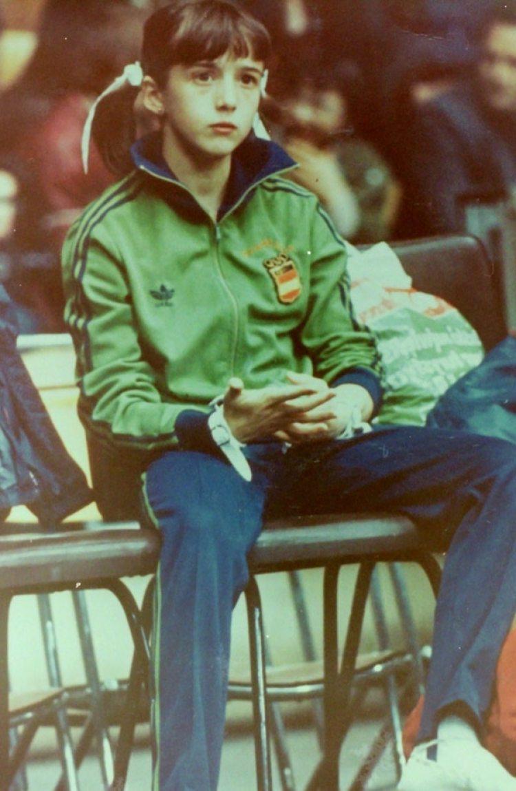 La gimnasta española Gloria Viseras compitió en los Juegos Olímpicos de 1980