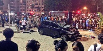 Un hombre perdió el control de su auto en la playa de Copacabana: un bebé muerto y 17 heridos