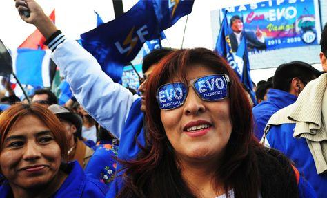 Una concentración en respaldo al presidente Evo Morales. Foto: Archivo-La Razón