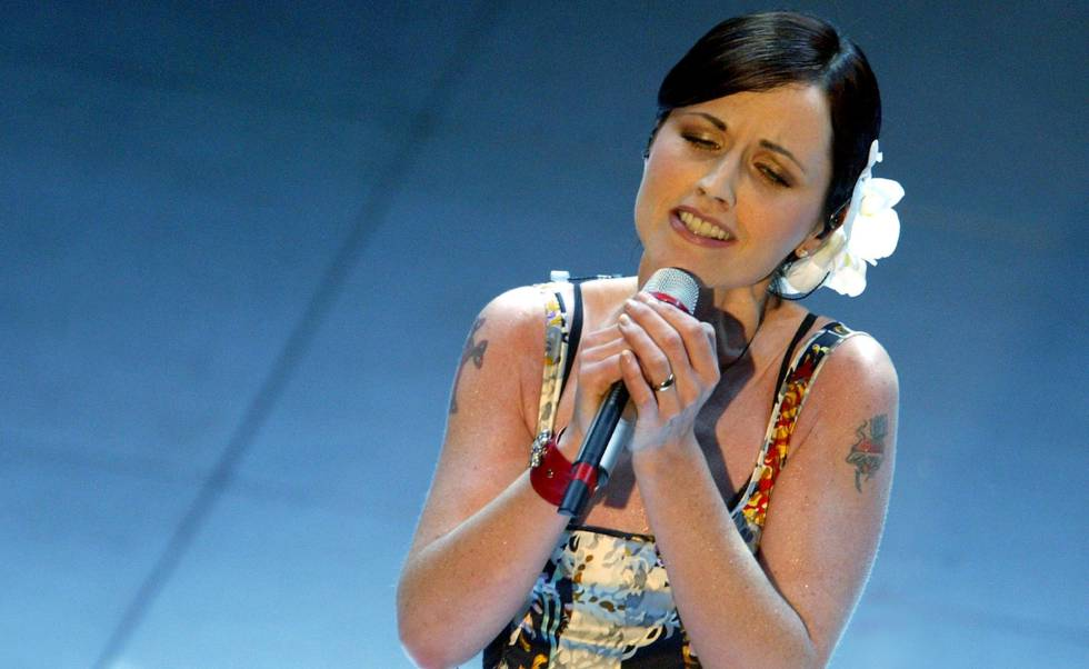 Dolores O'Riordan, durante el festival de San Remo, en Italia, en marzo de 2004.
