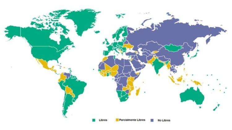 El mapa de la libertad en el mundo según Freedom House