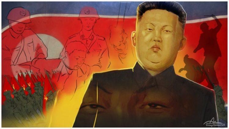 """Los testimonios de los refugiados muestran que nada cambió, al menos para bien, en Corea del Norte desde que asumió """"el gran sucesor"""" Kim Jong-un. (Ilustración de Rodrigo Acevedo Musto)"""