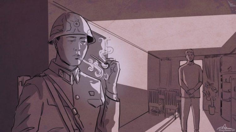 El traficante de cristal (metanfetamina) solía recibír en su casa a miembros de la seguridad que consumían la droga sin pagar a cambio de protección. (Ilustración de Rodrigo Acevedo Musto)