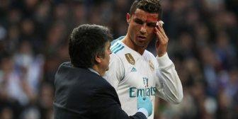La reacción de Cristiano Ronaldo al ver su rostro ensangrentado