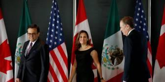 """EE UU, México y Canadá encaran una ronda """"crítica"""" para el futuro del TLC en un clima enrarecido"""