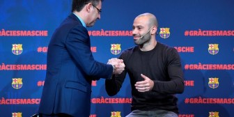 """Javier Mascherano se despide del Barcelona en una gala a pura emoción: """"Me siento un privilegiado"""""""