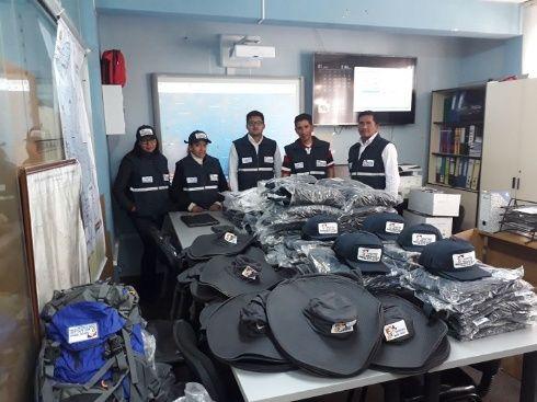 Parte del material que será entregado a los municipios afectados por las lluvias