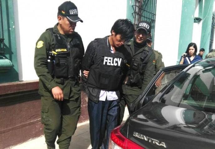 Fabián Choque fue capturado y presentado esta mañana. Foto: CORREO DEL SUR
