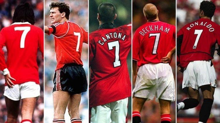 George Best, Bryan Robson, Eric Cantona, David Beckham y Cristiano Ronaldo son los grandes '7' de la historia del Manchester United