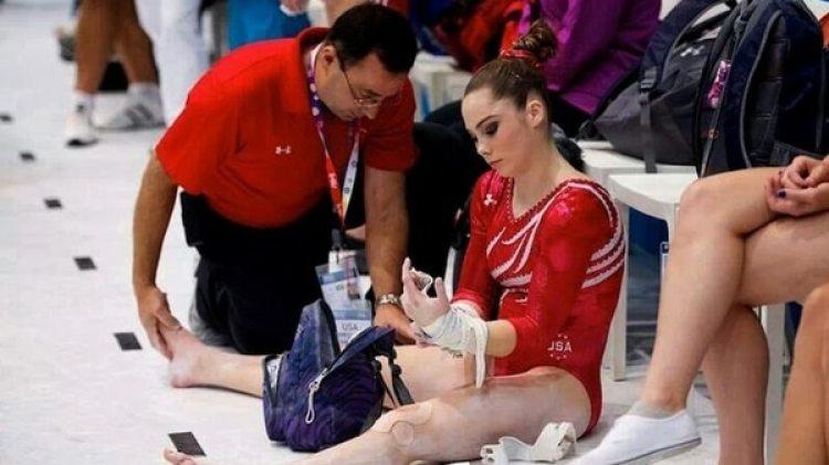 Larry Nassar como médico del equipo olímpico estadounidense