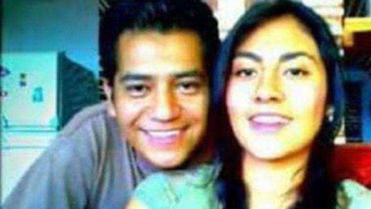 Magdalena junto a su ex pareja. Las autoridades ofrecieron una recompensa de 500 mil pesos a quien ayude a localizar a César (Proceso)