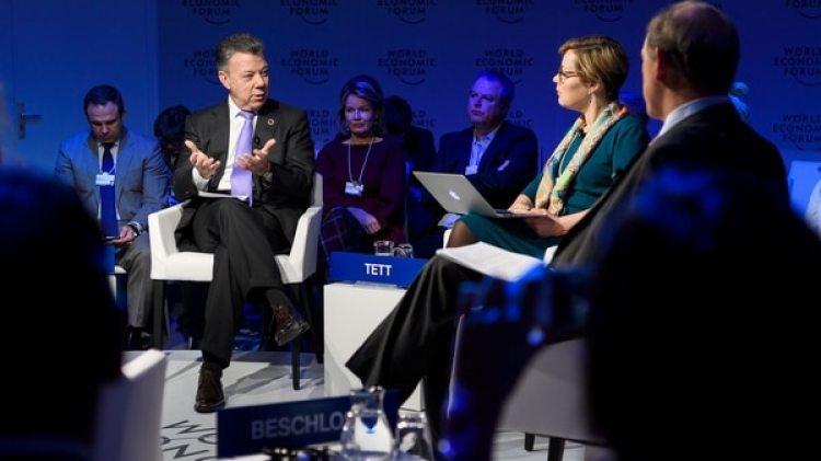 Santos habló este jueves en Davos (AFP)
