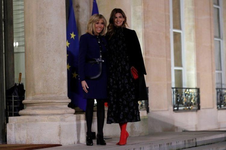 Brigitte Macron recibe a Juliana Awada en el Palacio Eliceo (Fotos: Presidencia y Reuters)