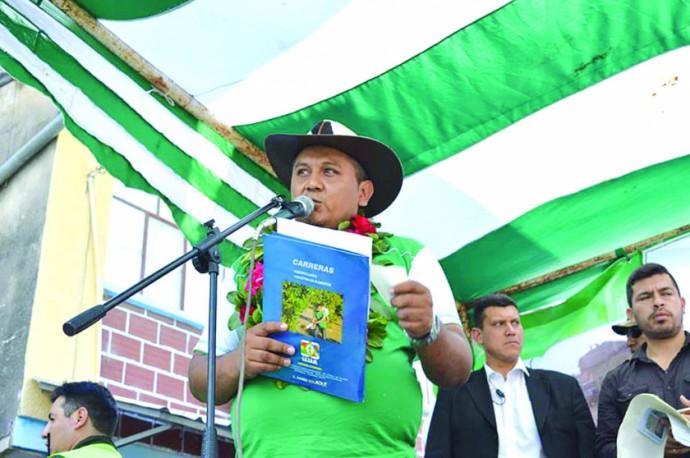 ALCALDE. Ronald Aramayo.