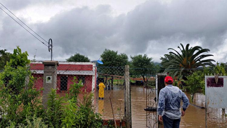 Tarija. Un barrio de Yacuiba inundado producto de las intensas lluvias del fin de semana. Foto: ALCALDIA YACUIBA