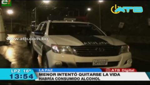 Menor de edad intentó suicidarse tras consumir bebidas alcohólicas