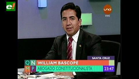 Bascopé: Hay problemas graves de redacción en el Código del Sistema Penal