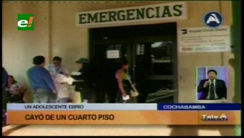 Cochabamba: Investigan caída de un adolescente del cuarto piso