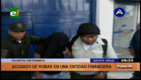 Detienen a sujeto acusado de intentar robar en una entidad bancaria