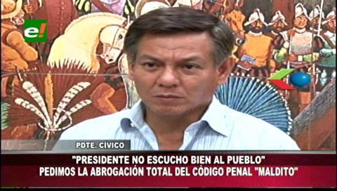 """Cuéllar: """"El pueblo pide la abrogación del Código Penal maldito y persecutorio"""""""