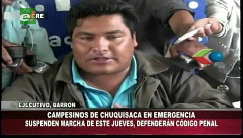 Sucre: La Futpoch suspende marcha y se declara en estado de emergencia
