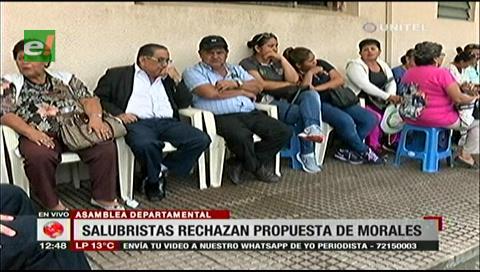 Trabajadores en salud rechazan la propuesta de socialización de Morales