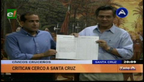 Cívicos cruceños recolectarán 100 mil firmas para enviar a la OEA