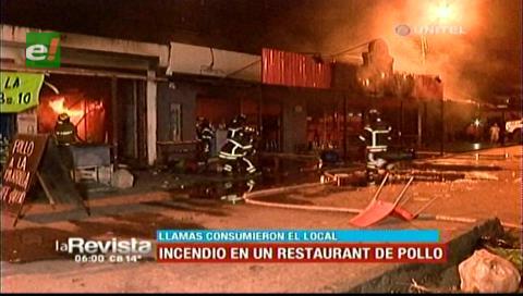 Presunta fuga de gas provocó un voraz incendio en una pollería de la Mutualista