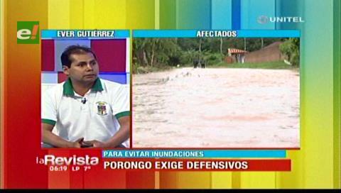 Pobladores de Porongo exigen solución definitiva para evitar más inundaciones