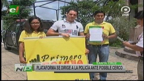 Plataforma pide precautelar la seguridad ciudadana ante posible cerco a Santa Cruz