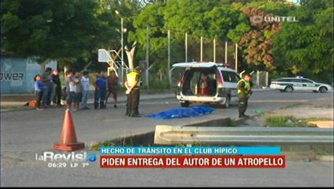 Policía identificó placa del vehículo que fugó tras arrollar y matar a un peatón