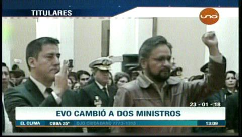 Video titulares de noticias de TV – Bolivia, mediodía del martes 23 de enero de 2018