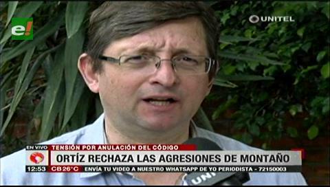 Ortiz rechaza agresiones de Montaño en sesión para la abrogación del Código Penal