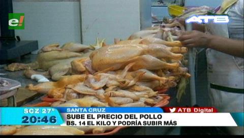 Sube el precio del pollo en los mercados cruceños
