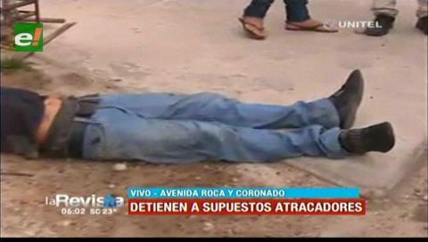 Presuntos asaltantes resultan heridos cuando intentaban huir en un taxi