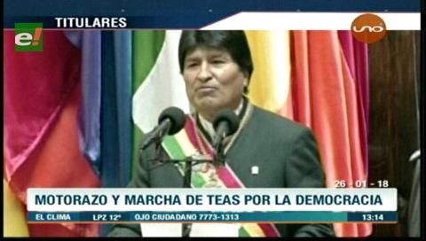 Video titulares de noticias de TV – Bolivia, mediodía del viernes 26 de enero de 2018