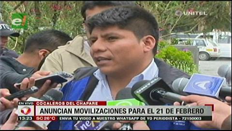 Cochabamba: Cocaleros anuncian marcha para el 21 de febrero