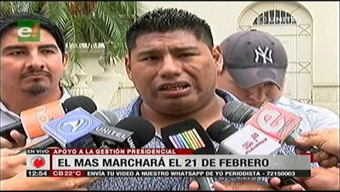 Santa Cruz: Jóvenes del MAS anuncian marcha en apoyo la repostulación de Morales