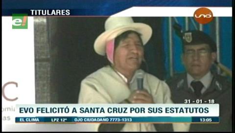 Video titulares de noticias de TV – Bolivia, mediodía del miércoles 31 de enero de 2018