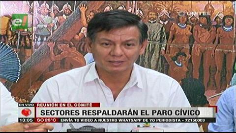 Santa Cruz: Sectores sociales se suman a los cívicos y acatarán el paro nacional