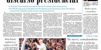 Portadas de periódicos de Bolivia del viernes 19 de enero de 2018