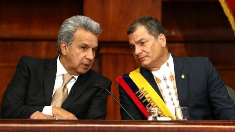 Otros tiempos. Lenín Moreno junto a Rafael Correa, cuando eran aliados