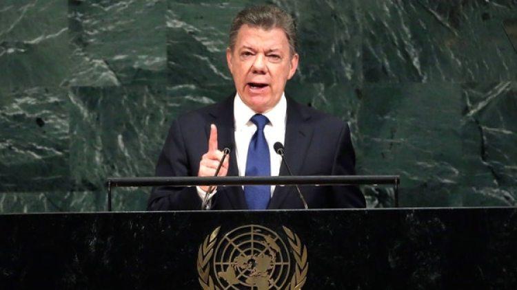 Juan Manuel Santos es uno de los líderes que más ha condenado las violaciones a los derechos humanos del régimen de Nicolás Maduro (AP)